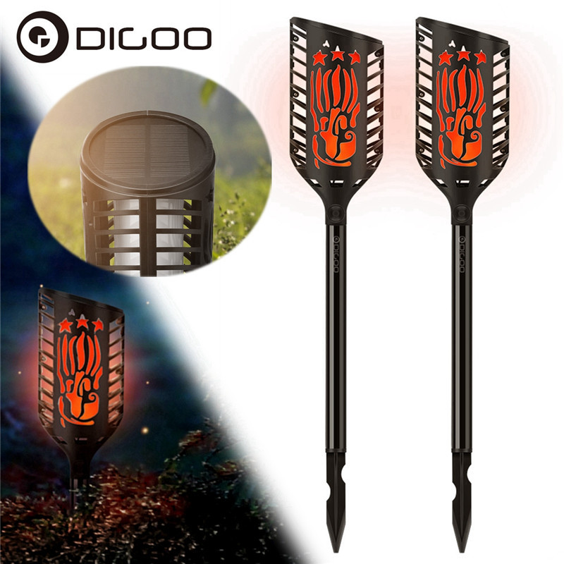 Digoo DG-FLE01 Solar Garden Decoration LED Flame Lamp Landscape Automatic Waterproof Atmosphere Light For Patio Yard Path Light