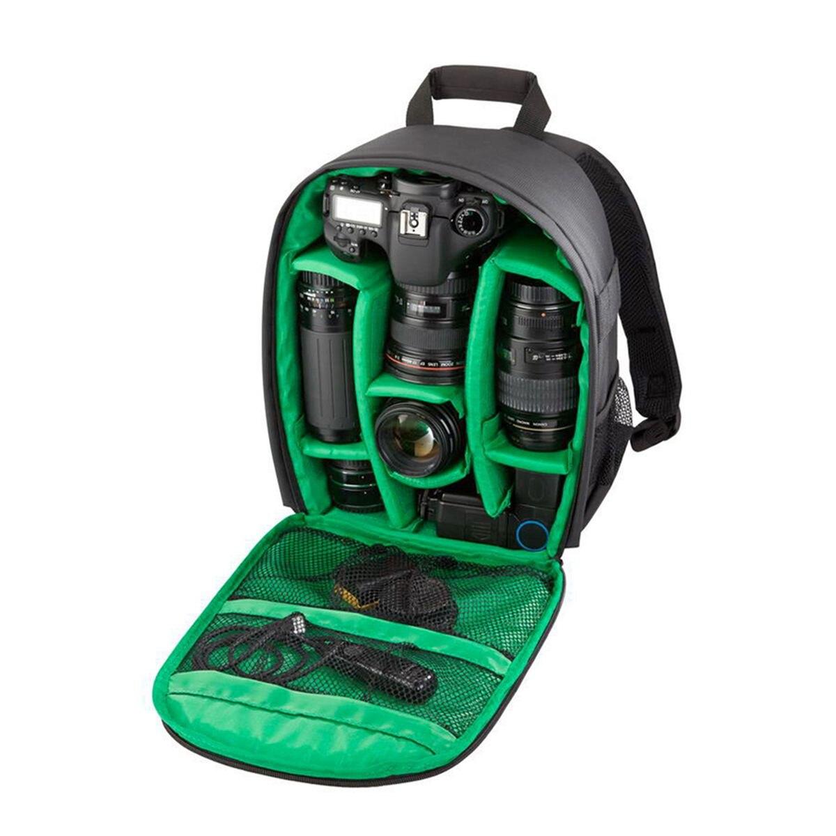 Top Deals Camera Bag Nylon Soft Bag Shoulder Camera Backpack Soft Interior Lining Backpack DSLR Camera Bag For Nikon Canon SONY