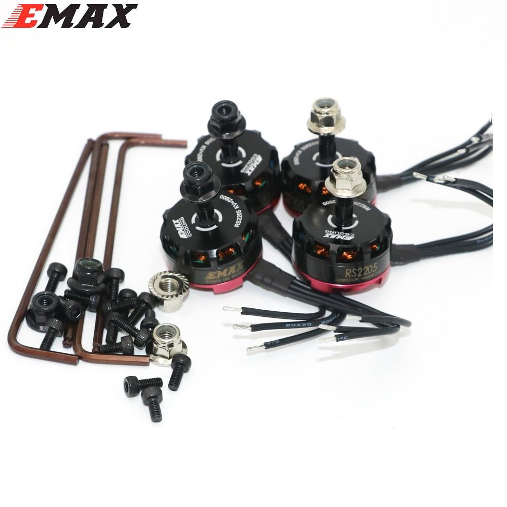 4 ensemble/lot Emax RS2205 2300KV 2600KV moteur Brushless pour FPV Quad course QAV course 2 CW/2 CCW livraison directe en gros