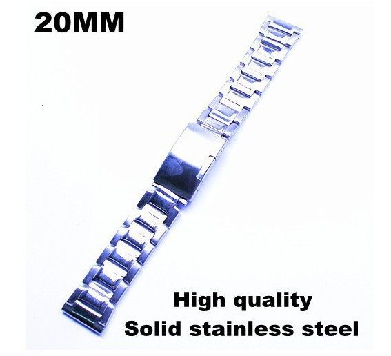 wholesale - 10PCS/lots  High quality 20MM Solid stainless steel Watch strap metal watch bands - 81017 - free shipping | Watchbands