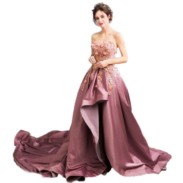 Wunderschöne Rose Rosa Lange Abendkleid 2017 Einzigartiges Design ...