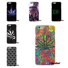Fashion leaf drugs leaves weeds Soft Silicone Case For iPhone X 4 4S 5 5S 5C SE 6 6S 7 8 Plus Galaxy Grand Core Prime Alpha(China)