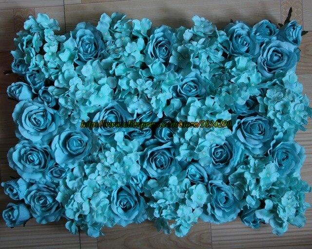 Hot Tiffany Blue 10 Pzlotto Seta Artificiale Rosa E Ortensia Fiore