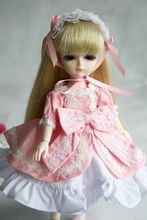 wamami 124 Pink Dress Clothes 1 4 AOD MSD DOD BJD Dollfie
