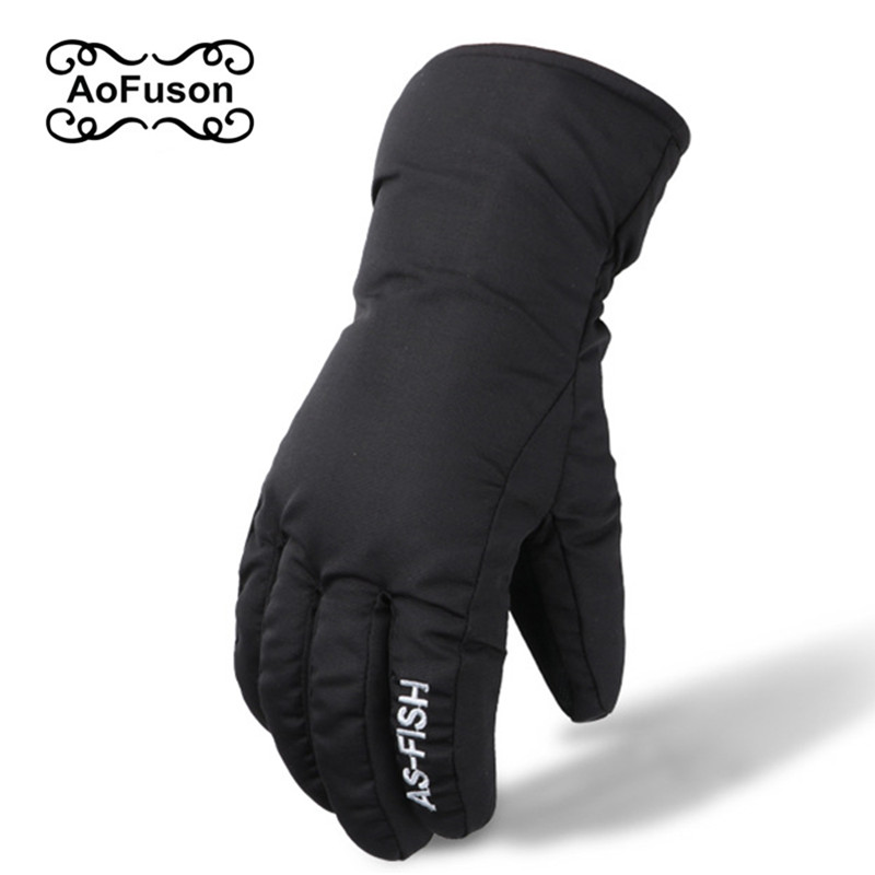 Winter Ski Snowboard Finger Gloves Guantes Nieve Snow Snowmobile Cycling Motorcycle Skiing Sport Windproof Waterproof Gloves