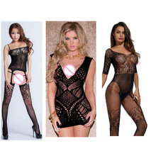 Sexy lingerie Babydolls hot Erotic lingerie open crotch elasticity mesh body stockings hot porn sexy underwear costumes for sex