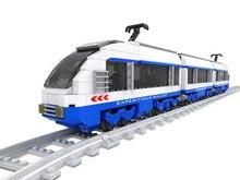 Transporte transporte ferrocarril tren 3d building block set compatible con lego de construcción ladrillos educativos juguetes aficiones