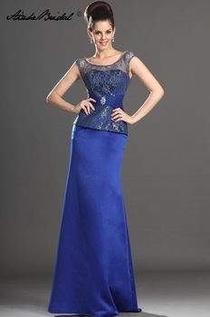 Gorgeous Tank Mother of the Bride Dress Royal Blue Satin Mermaid Long Formal Womens