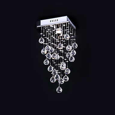 GU10 1 Light,Luminaira Modern K9 Crystal LED Ceiling Lights For Living Room Lamp Lustres De Sala Teto,Bulb Included