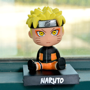 Image 5 - Car Ornaments Anime Naruto Bobble Head Car Decoration Whirlpool Naruto Automotive  Dashboard Decoration Gift Toys