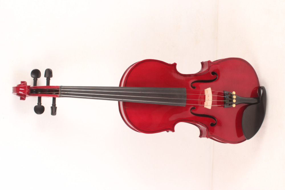 4-String 4/4 3/4 New Electric Acoustic Violin red  #1-002# handmade new solid maple wood brown acoustic violin violino 4 4 electric violin case bow included