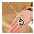 Envío gratis de vainilla decoración gota accesorios femeninos collar de marca a largo collar