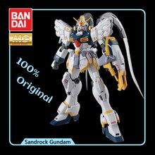 BANDAI modelo MG 1/100, nuevo informe móvil, Gundam Wing EW, efectos de arenisca, modelo de figura de acción, modificación