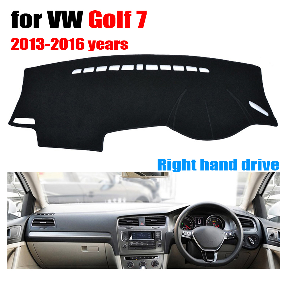 FUWAYDA Car dashboard covers mat for Volkswagen VW GOLF 7 2013-2016 years Right hand drive dashmat pad dash cover dashboard