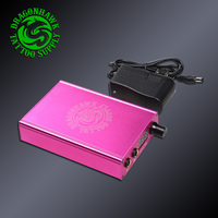 תיבת כוח USB הכפול טעינת נמל LCD מקצועי מכונת קעקוע אספקת חשמל טלפון