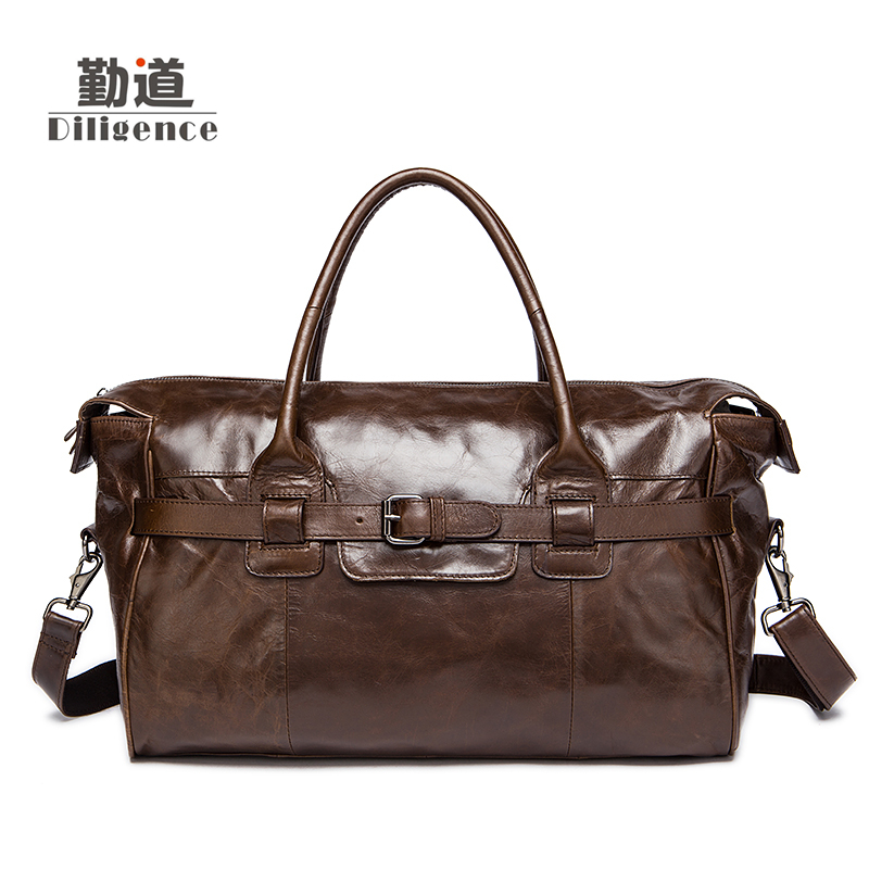 Men's Genuine Leather Handbags Vintage Fashion Bolsa Feminina Clutch Shoulder Crossbody Bags Casual Totes 2017 New Messenger Bag