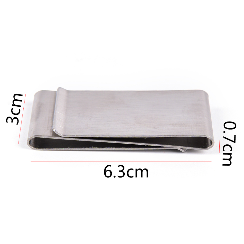 Stainless Steel Double Sided Men Money Clip Wallet Metal Credit Card Money Holder