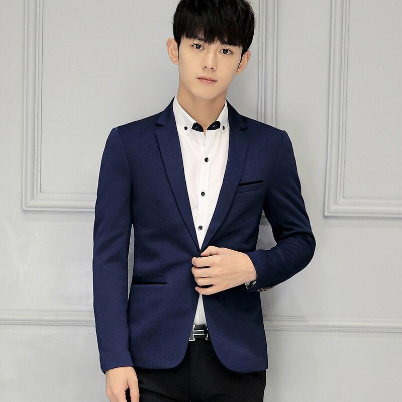 New Upscale Boutique Mens Pure Color Slim Formal Business Suits Blazer Male Wedding Dress Suit Jackets Casual Suits Big Size