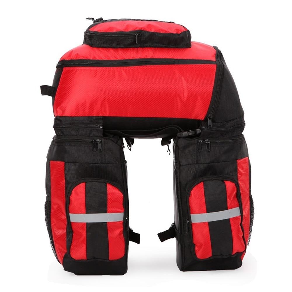 Detachable Bicycle Bags 70L MTB Mountain Bike Rack Bag 3 in 1 Multifunction Bike Pannier Trunk Bag Bicycle Accessories C0044