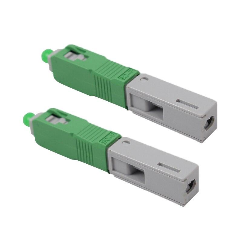 100 pcs/lot Intégré froid connecteur SC APC fiber optique Rapide connecteur SCAPC rapide connecteur FTTH rapide assemblée connecteur