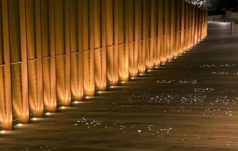 lâmpada inground iluminação ao ar livre cob