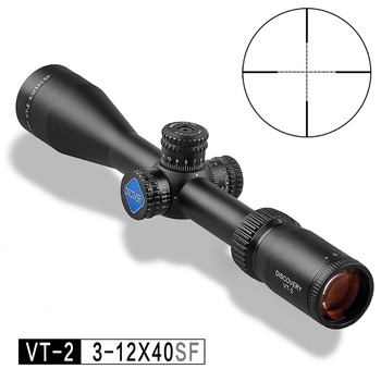 DISCOVERY Hunting Riflescope VT-2 3-12X40 SF Side Focal Rifle Scope Mil Dot Reticle Come With Free Scope Mount