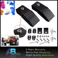 1Pair Hood Lock Kit Anti-Theft Security Lock Latch Kits Engine Locking Catches Latches set With Key For Jeep Wrangler JK 07-16