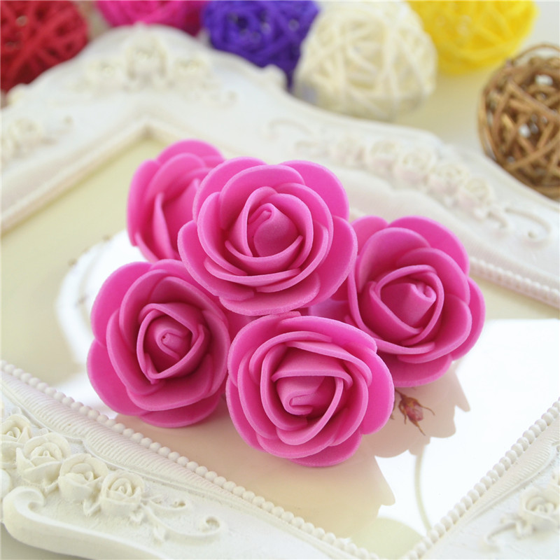 50pcs/Bag Multicolor Mini Rose Head Artificial Flowers For Wedding And Festival Party 20