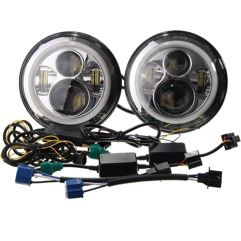 yüksək lumen super parlaq 2pcs 7inch 45W mühərrikli 12v-24V - Avtomobil işıqları - Fotoqrafiya 1