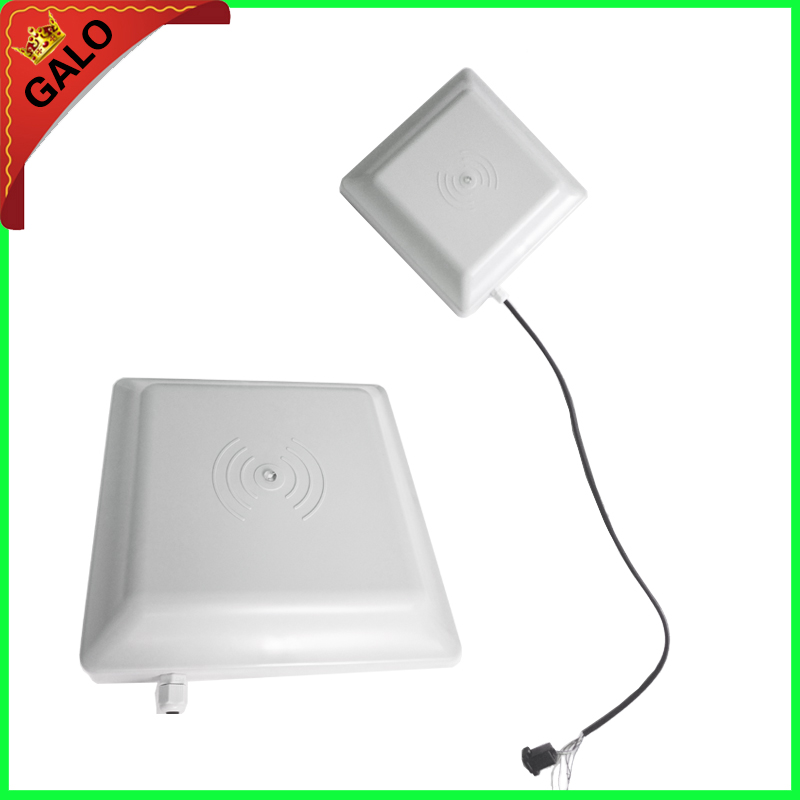 UHF RFID card reader 6M long range 8dbi Antenna RS232/RS485/Wiegand of parking management system,Free SDK (FCC approved)