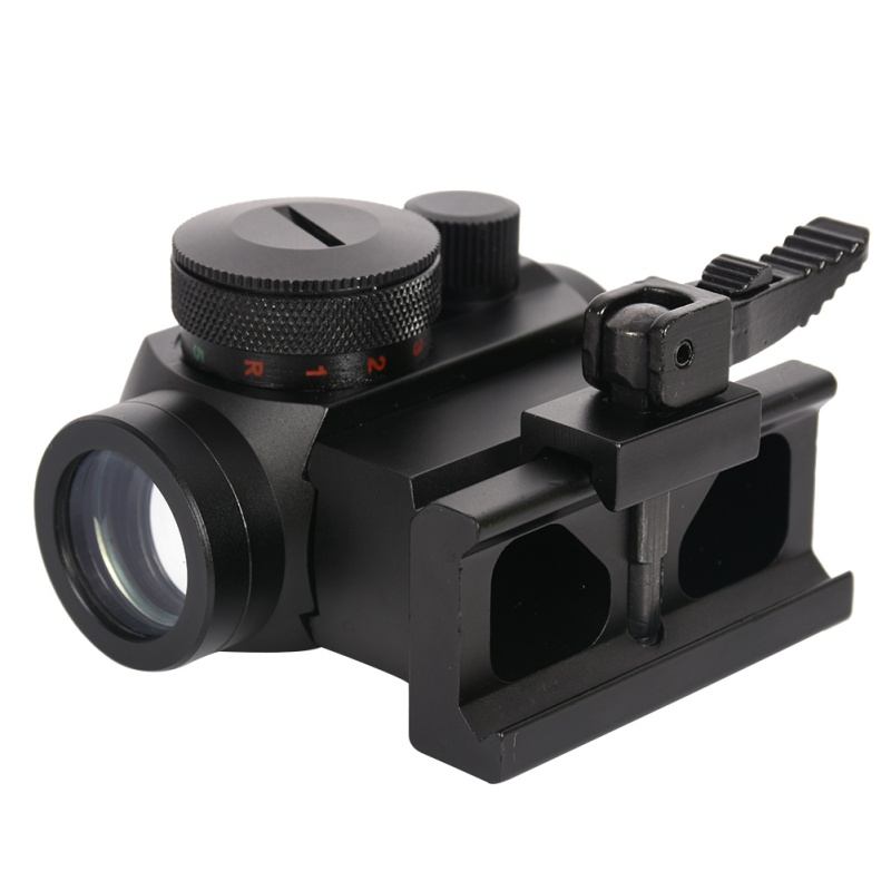 ФОТО Outdoor Military Gear ABB Tactical Mini Micro Reflex Red Dot Scope Sight with QD Quick Riser Mount