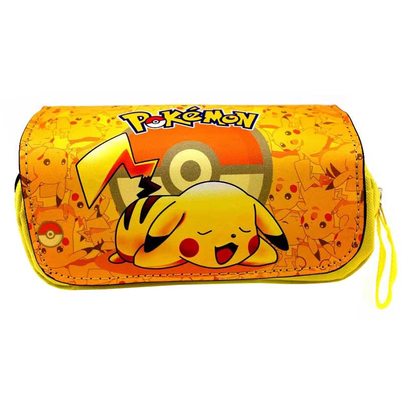 anime-pocket-monster-organizer-wallets-pikachu-font-b-pokemon-b-font-lovely-cartoon-pencil-bags-leather-cover-canvas-pen-holder-purse-bag