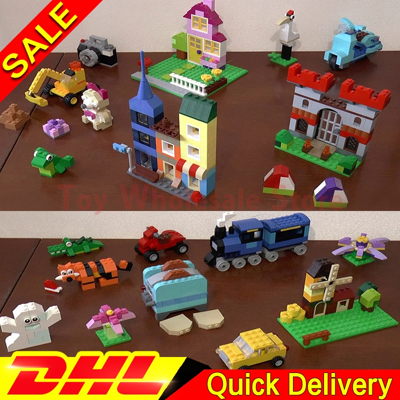 Lepin 42002 The Large Brick Box +Lepin 04001 Medium Brick Box Building Blocks Bricks Children Educational Toys Model 10698 10696 степлер мебельный со скобами sparta 42002