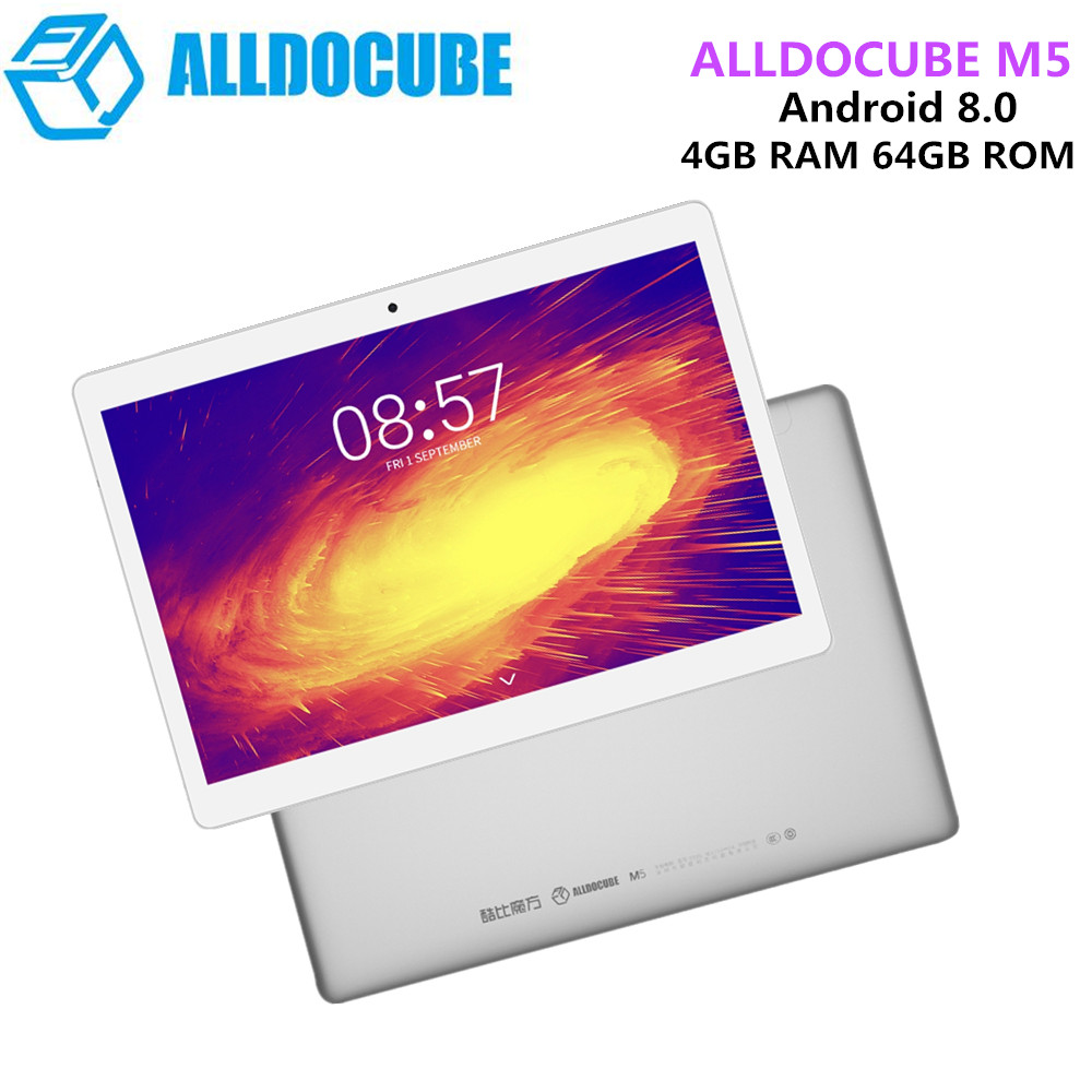 ALLDOCUBE M5 4G Phone Call Tablet PC 10.1'' Android 8.0 MTK X20 Deca Core 4GB 64GB Dual WiFi 5.0MP 2.0MP BT2.0 Tablet Tab Pad alldocube m5 10 1 inch 4g phone call tablet pc 2560 1600 ips android 8 0 mtk x20 deca core 4gb ram 64gb rom 5mp gps dual wifi