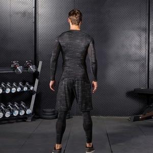 Image 5 - Hohe Qualität Compression Männer der Sport Anzüge Quick Dry Lauf sets Kleidung Sport Jogger Training Gym Fitness Trainingsanzüge Lauf