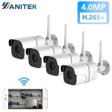 4mp 키트 무선 보안 카메라 시스템 ip 카메라 와이파이 sd 카드 야외 4ch 오디오 cctv 시스템 비디오 감시 키트 camara