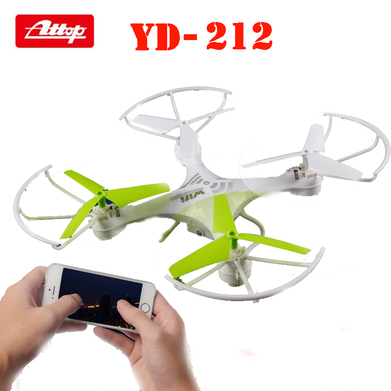 Attop YD-212 2.4G 4CH 6 Axis Gyro FPV RC Quadcopters Drones w/ Headless Mode 0.3MP WiFi HD Camera RTF cd диск celine dion the best of 1 cd