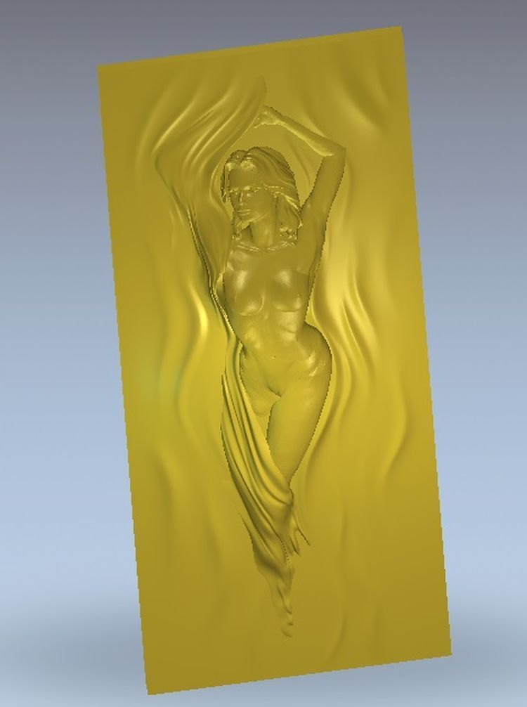 3d model relief  for cnc in STL file format girl_nude_11 icon of the mother of god undying color 3d model relief figure stl format religion 3d model relief for cnc in stl file format