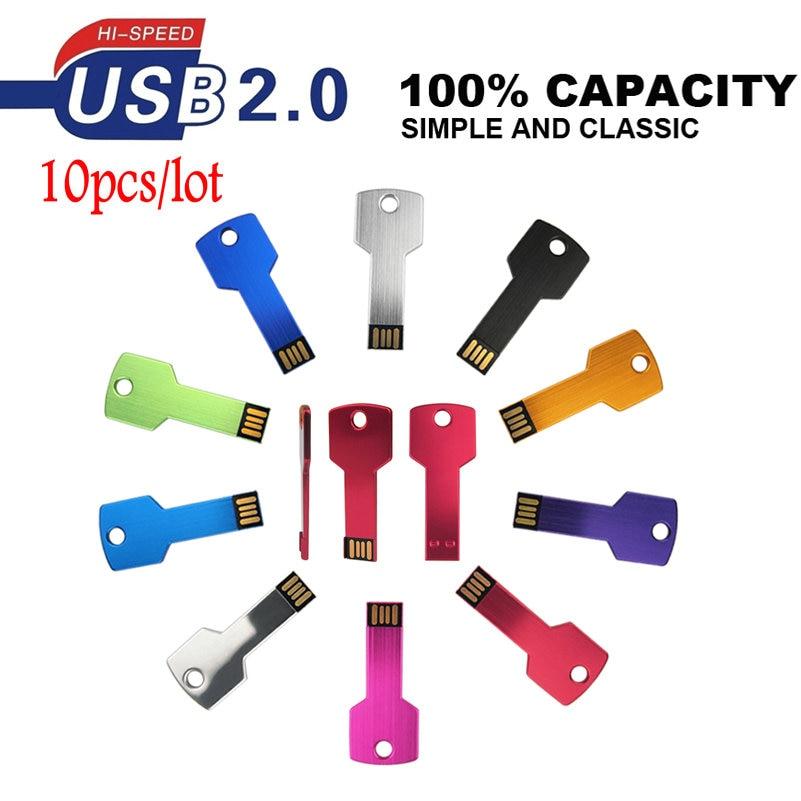 10/pcs Cl/é USB /à m/émoire Flash Drive USB 2.0/M/émoire Disque Pen Drive 8 Go Bleu