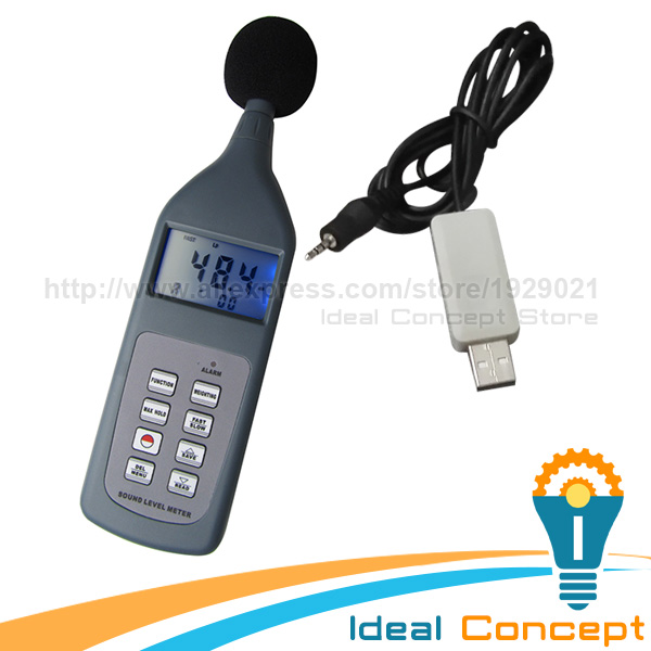 Digital Sound Level Meter Lp Leq Lmax LN Function  with RS-232C Software CD 30~130 dB Decibel Range atoma lp cd