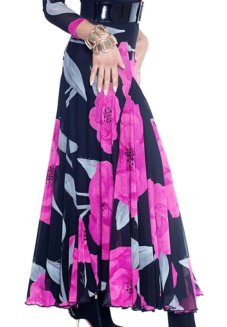 Danse de salon double couches huit pièces tissu gros ourlet évasé jupes espagne valse moderne danse jupe S15005 pratique
