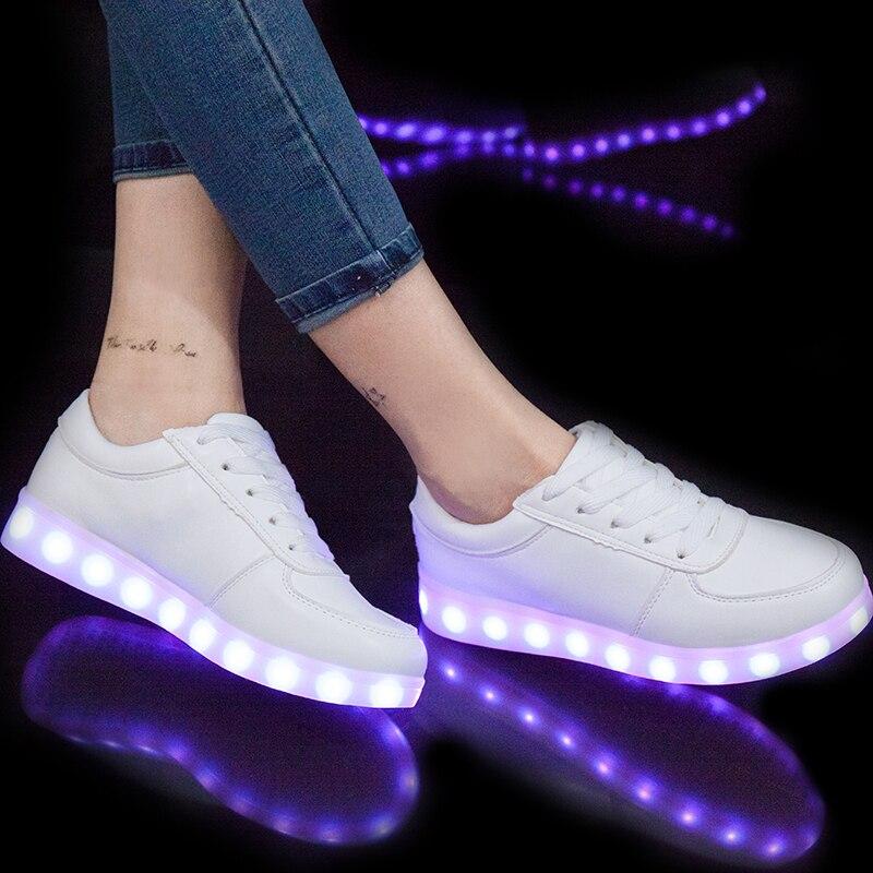 Eur27-40/USB que brilla intensamente Zapatos luminoso sneakers para niños Niños LED Zapatos con suela ligera krasovki tenis feminino led zapatillas