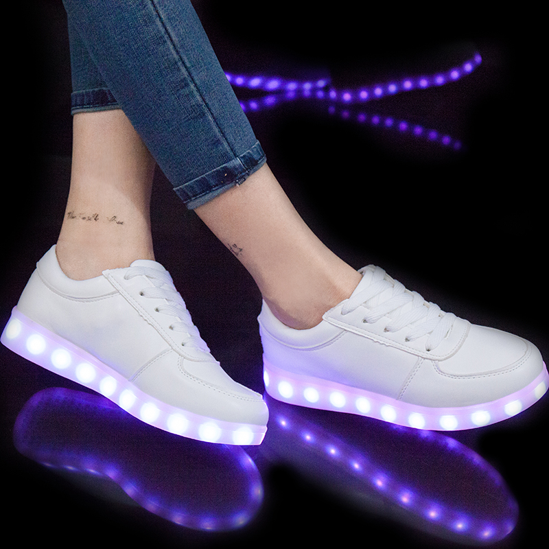 Eur27-40 // Usb Glowing Shoes Luminous Sneakers for Kids Boys LED Shoes with Light Up sole Krasovki Tenis Feminino LED Slippers
