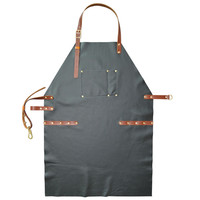 Full Grain Cow Leather Apron Barista Bartender BBQ Chef Bistro Catering Uniform Barber Tattoo Artist Carpenter Work Wear L4
