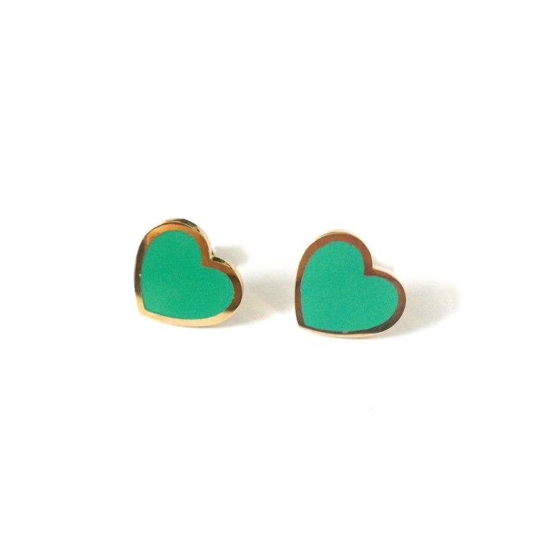 Женские серьги-гвоздики в форме сердца FairLadyHood, зеленые серьги-гвоздики из нержавеющей стали для влюбленных, лучшие подарки, доставка