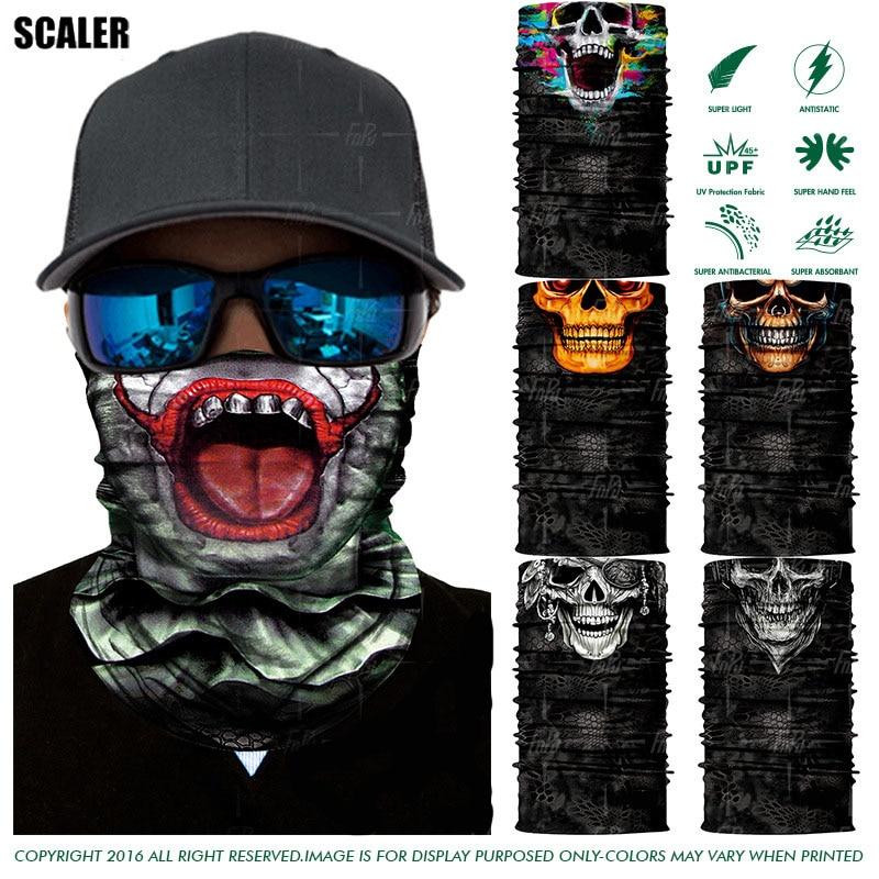 3D Seamless Balaclava Magic Scarves Face Mask Ghost Skull Jokers Head Bandana Face Shield Headband Headwear Bicycle Ski Bandana