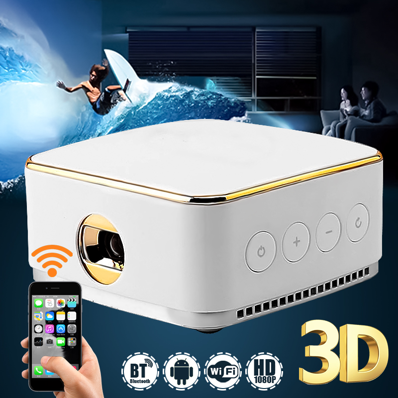 DLP DL-S8 DLP LED Wifi Portable Office Home Cinema projector For Home TV poner saund dlp100w pocket hd portable dlp projector micro wireless multi screen mini led battery hdmi usb portable home cinema