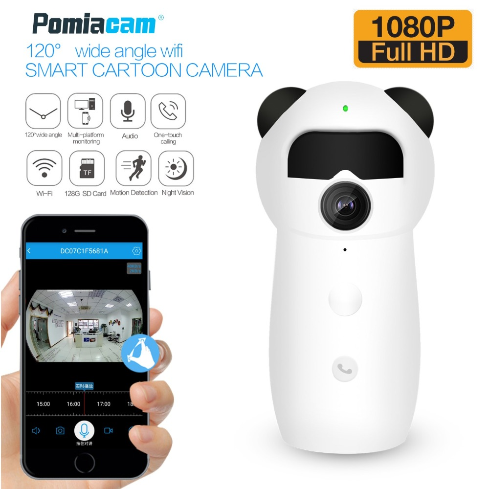 2018 новейшая Wi-Fi умная мультяшная камера EC57 HD 1080P Беспроводная IP-камера безопасности для дома радионяня ИК Ночное Видение датчик движения