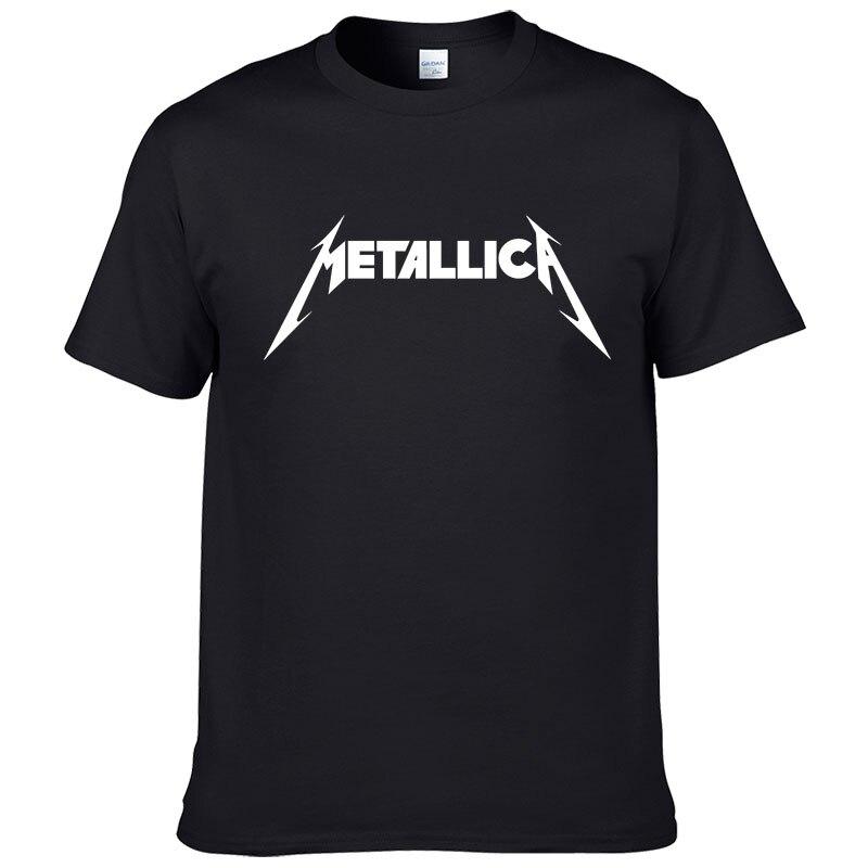 Metallica de metal duro de la banda de rock de los hombres camiseta T camisa para los hombres de algodón de manga corta Casual Tee Camisetas Masculina #199