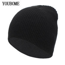 YOUBOME Fashion Autumn Knitted Hat Winter Hats For Women Skullies Beanies  Men Winter Beanie Gorros Bonnet 6f8bd17033ff